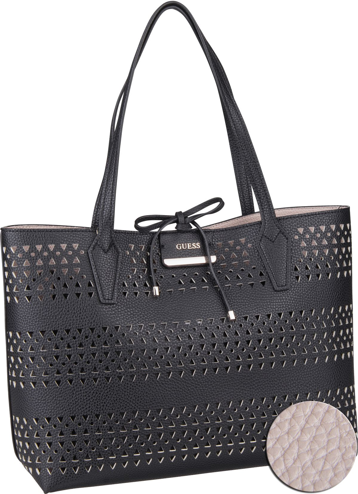 Handtasche Bobbi Inside Out Tote Black/Stone (innen: Beige)