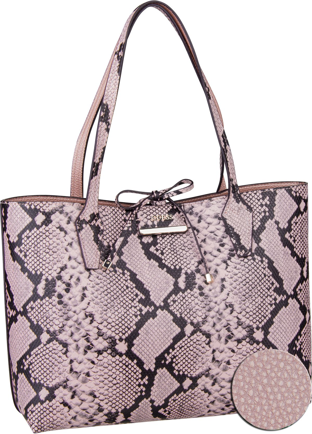 Handtasche Bobbi Inside Out Tote Blush Python/Rose (innen: Rosa)