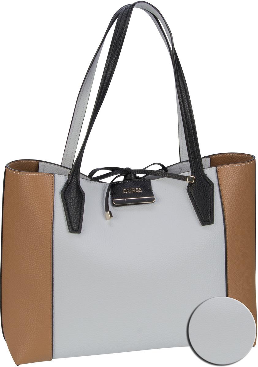Handtasche Bobbi Inside Out Tote White/Cognac (innen: Weiß, Lachsfarben)