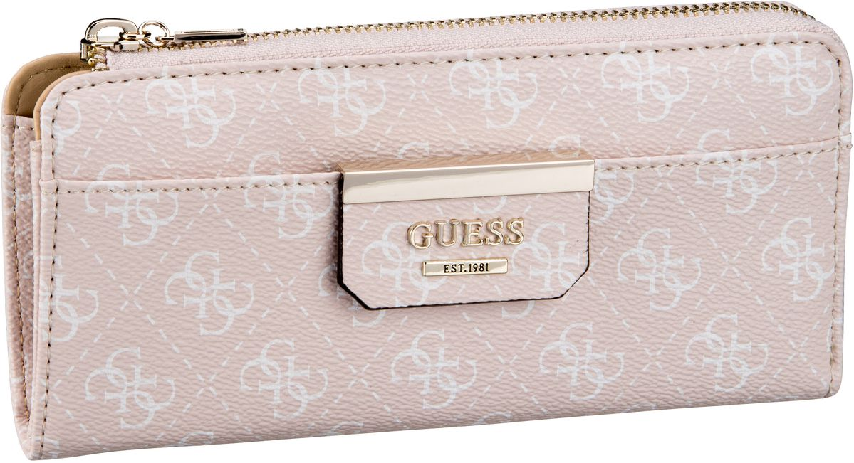 Guess Bobbi SLG Slim Zip Wallet Blush - Kellnerbörse