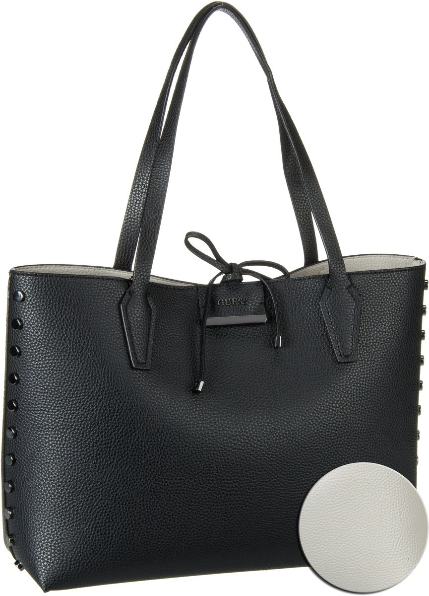 Guess Bobbi Inside Out Tote Studs Black Stone - Handtasche