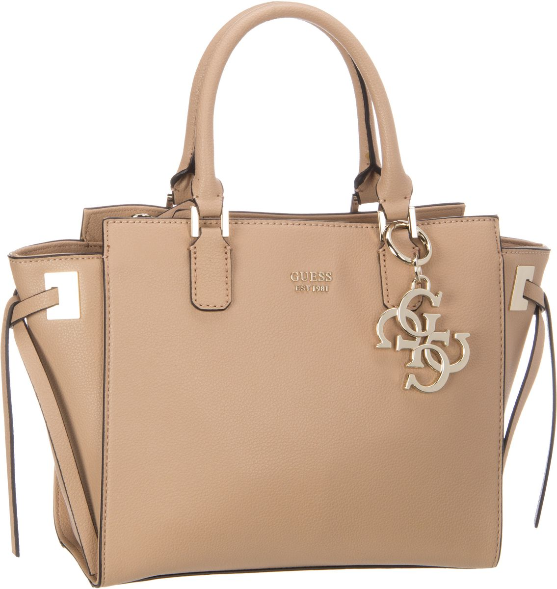 Guess Digital Status Satchel Tan - Handtasche