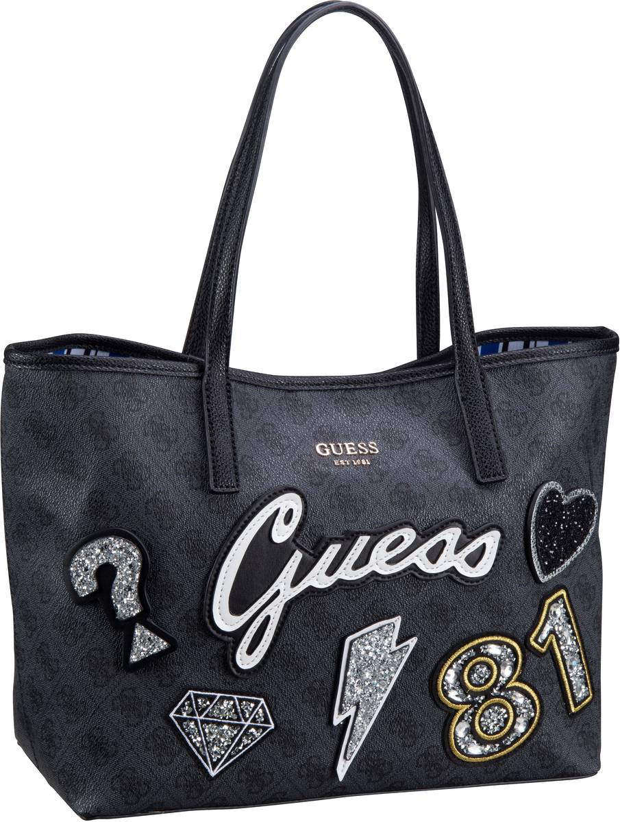 Shopper für Frauen - Guess Shopper Vikky Tote Patch Coal Multi  - Onlineshop Taschenkaufhaus