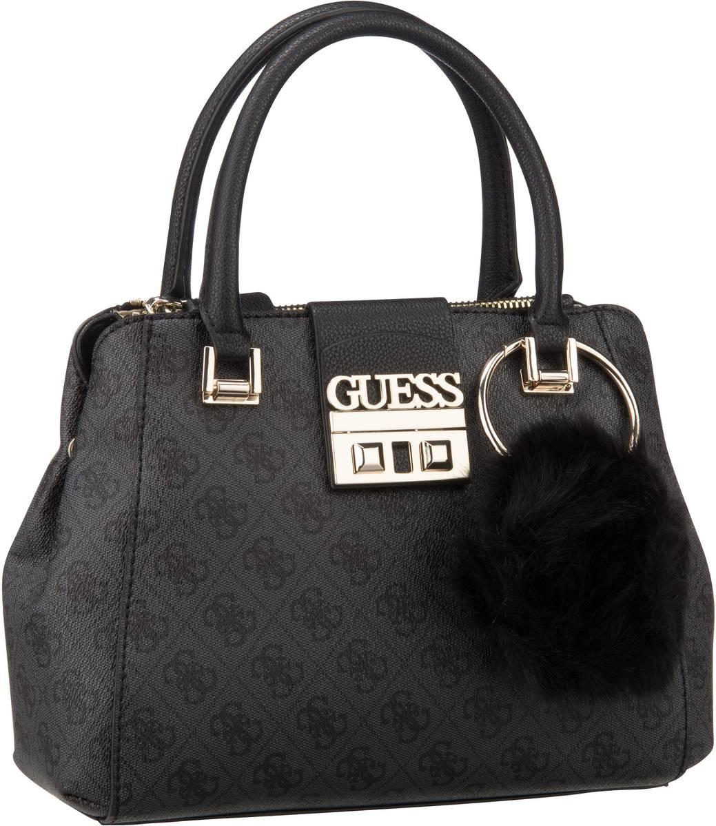 Handtaschen für Frauen - Guess Handtasche Logo Luxe Small Society Satchel Coal  - Onlineshop Taschenkaufhaus