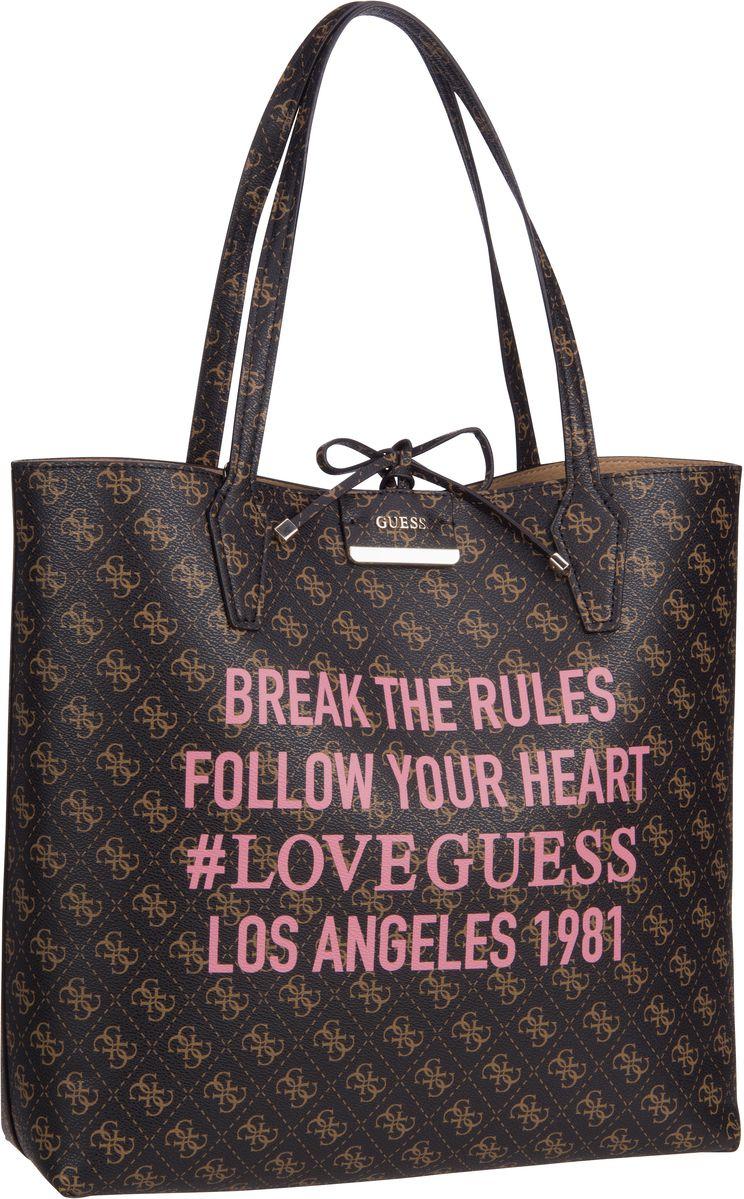 Handtasche Bobbi Large Inside Out Shopper Brown Logo/Camel