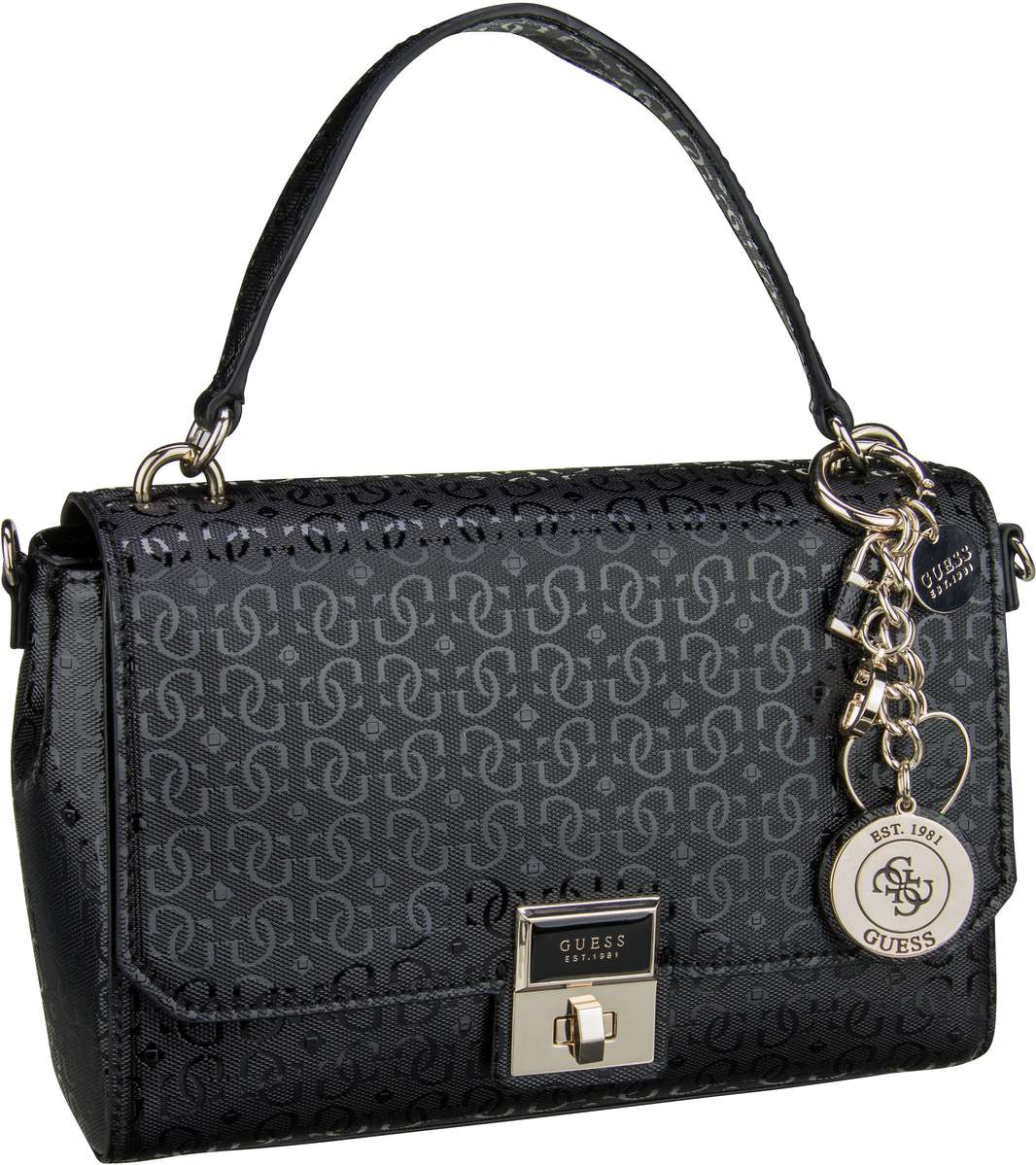 Handtasche Shannon Top Handle Flap Black