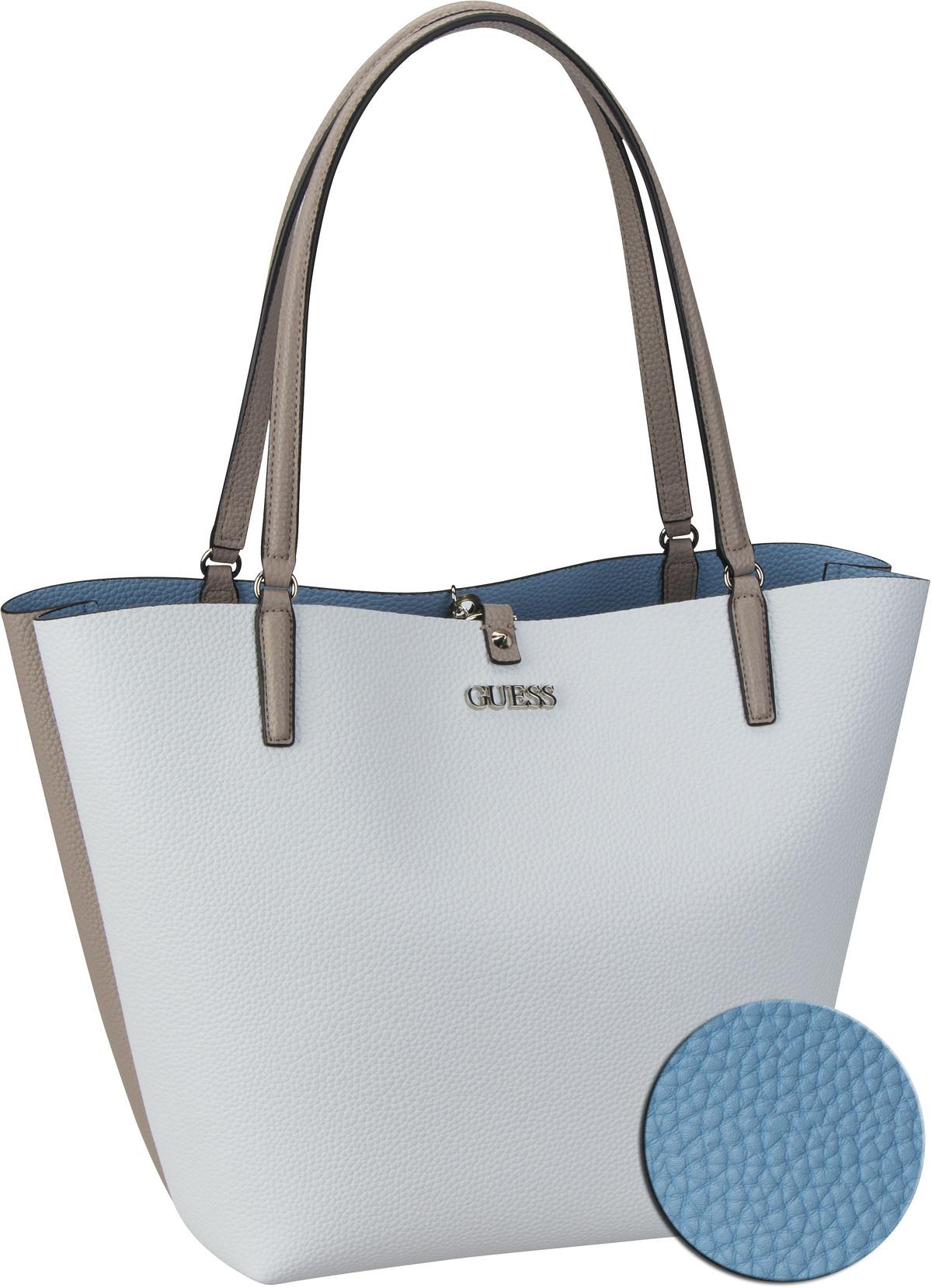 Shopper Alby Toggle Tote White/Sky (innen: Blau)