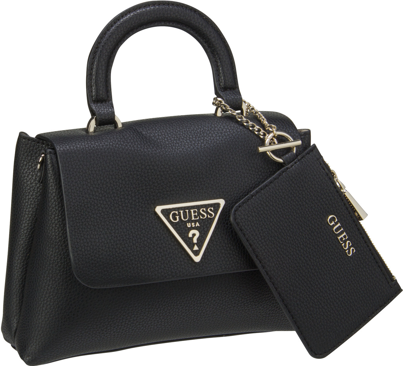 Handtasche Aretha Top Handle Flap Black