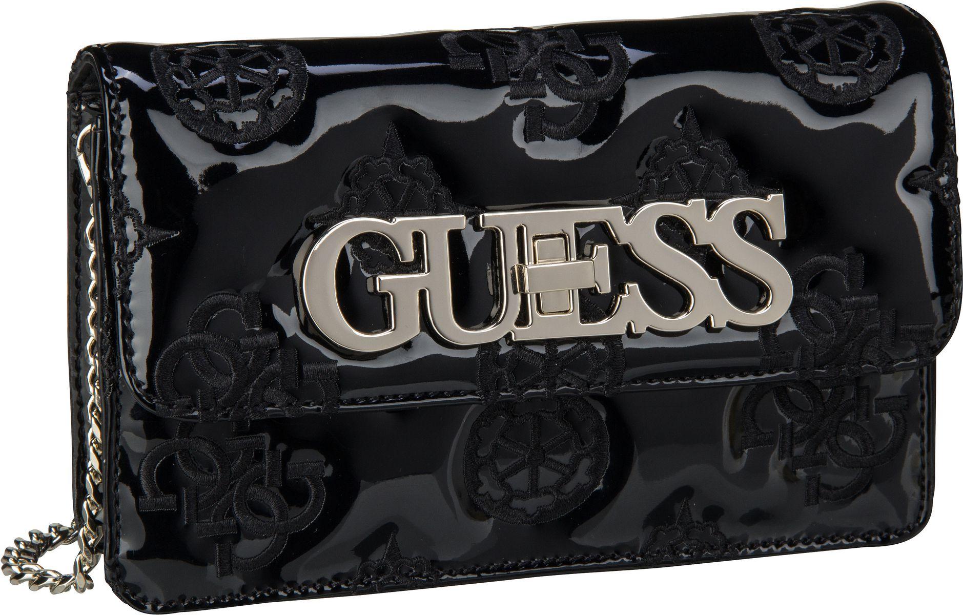 Clutches - Guess Abendtasche Clutch Guess Chic Mini Crossbody Flap Black  - Onlineshop Taschenkaufhaus