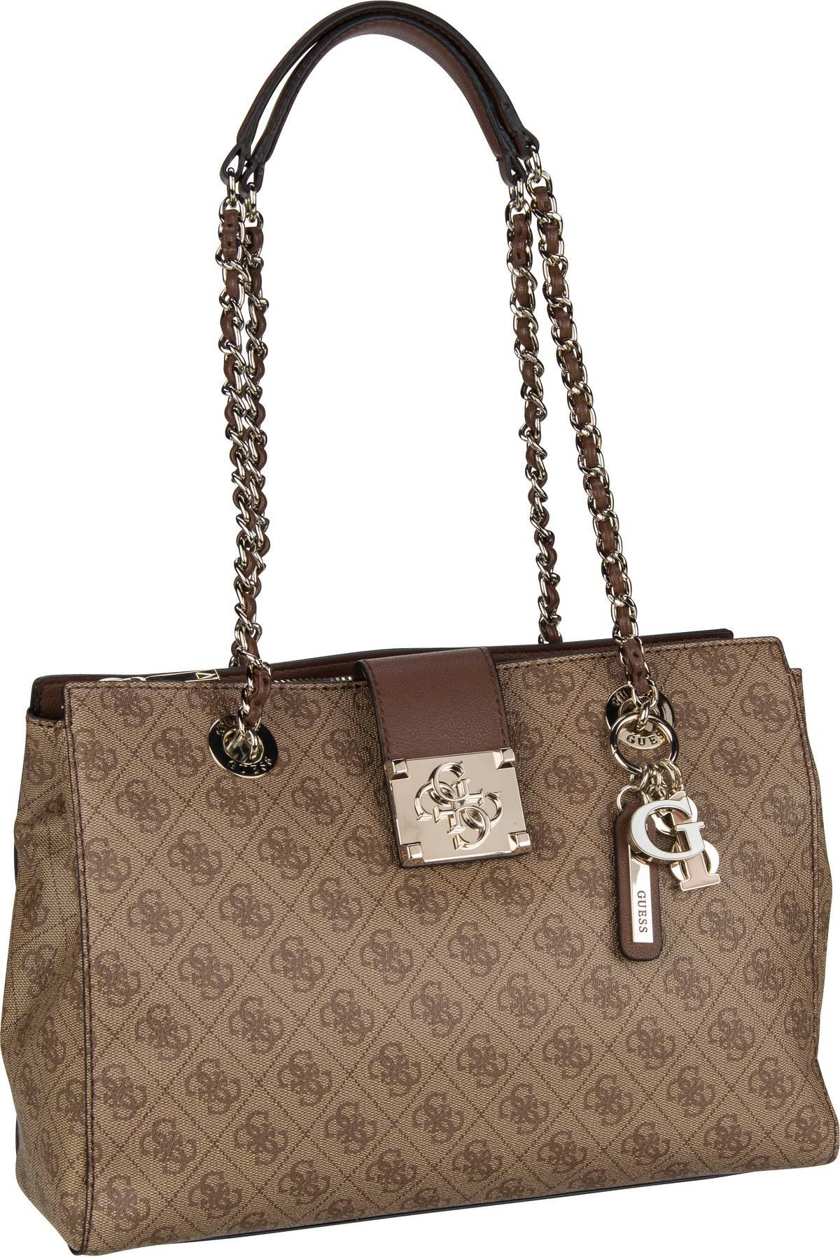 Handtasche Logo City Luxury Satchel Brown