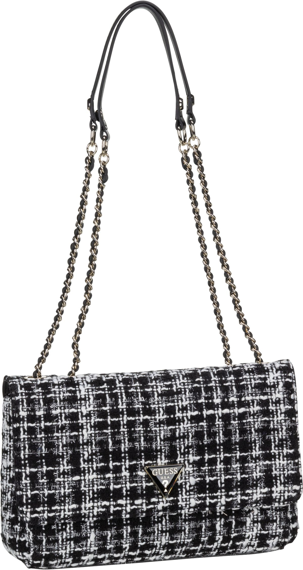 Handtasche Cessily Tweed Convertible XBody Flap Black Multi