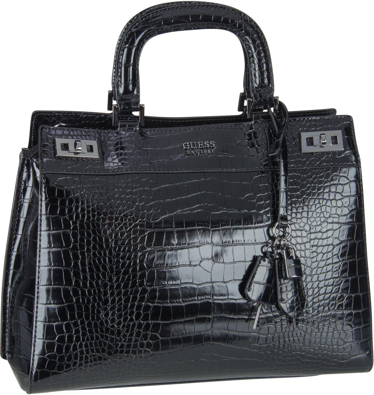 Handtasche Katey Luxury Satchel Croco Black