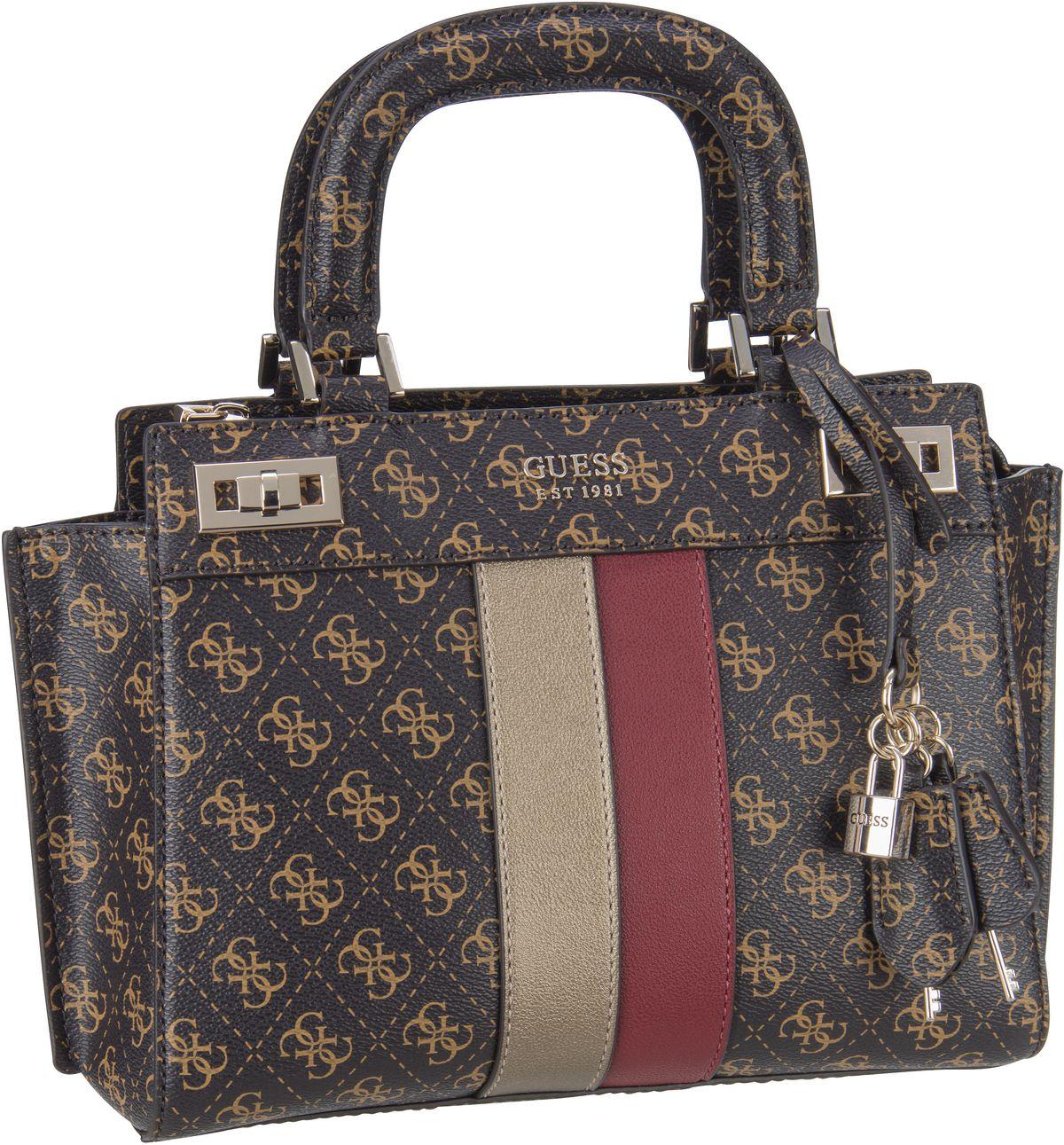 Handtasche Katey Girlfriend Satchel Logo Brown Multi