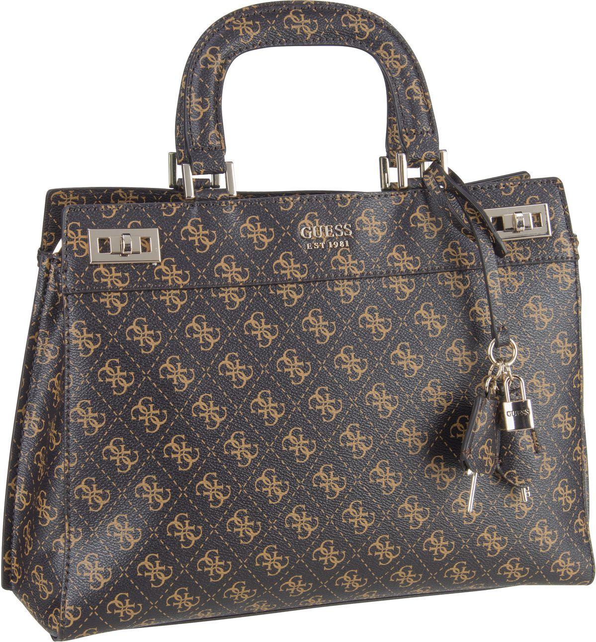 Handtasche Katey Luxury Satchel Logo Brown Multi