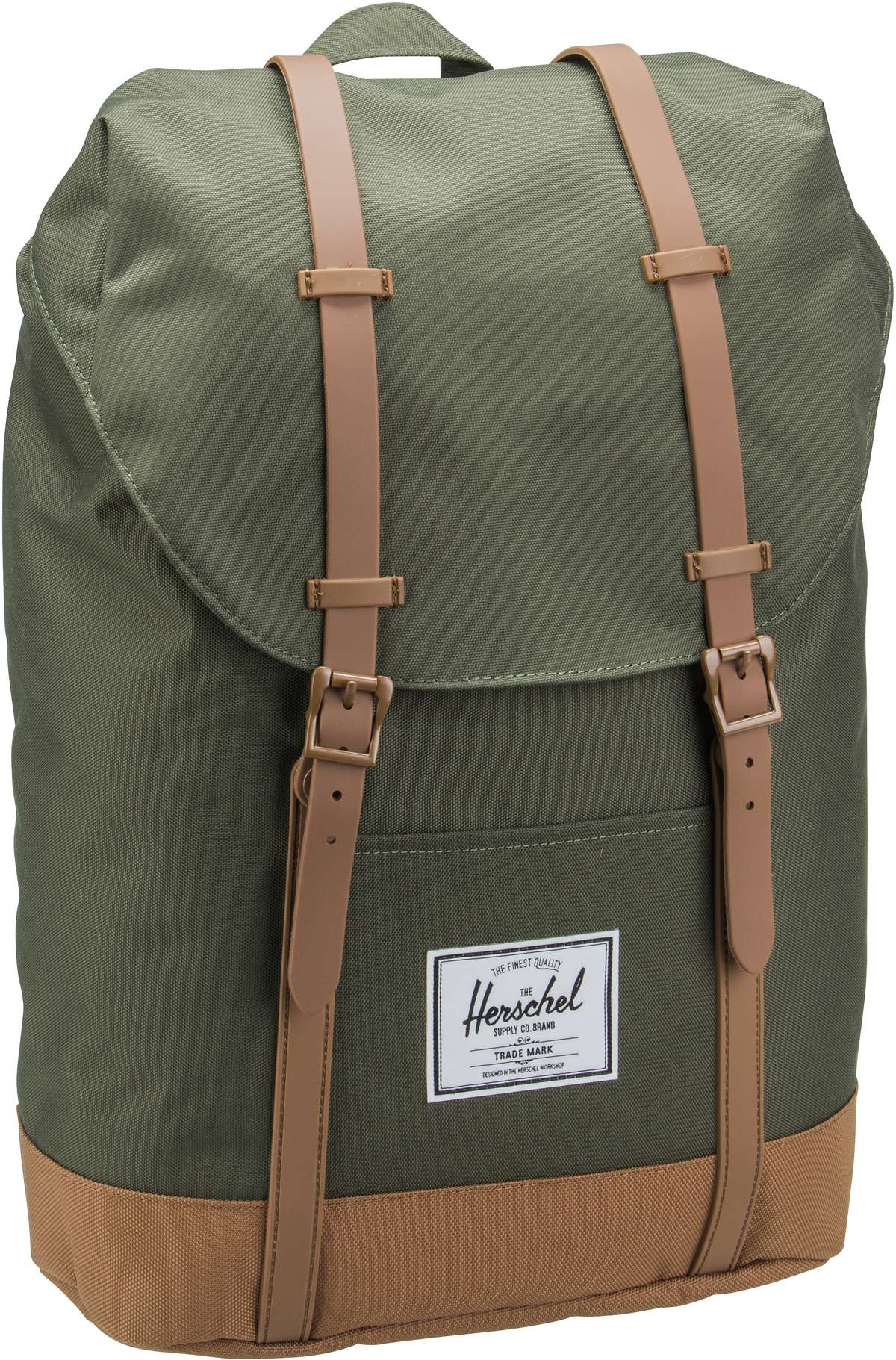 Laptoprucksack Retreat Dark Olive/Saddle Brown (19.5 Liter)