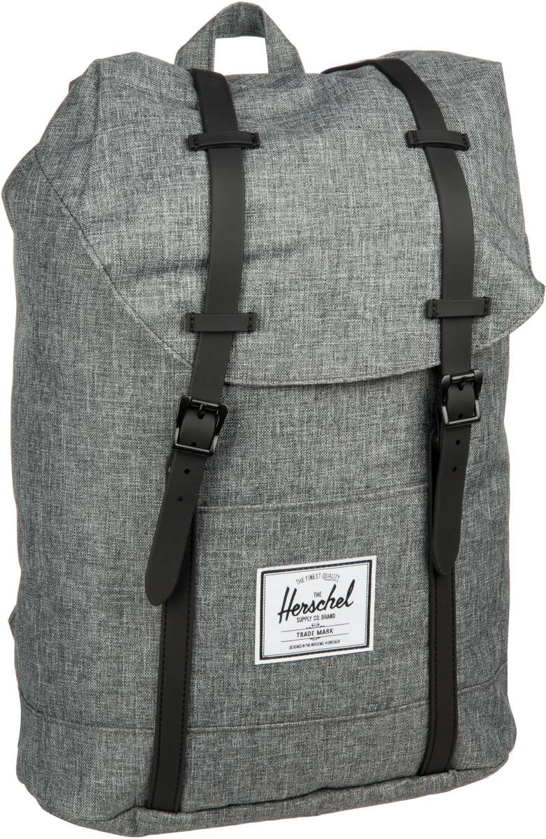 Laptoprucksack Retreat Raven Crosshatch/Black Rubber (19.5 Liter)