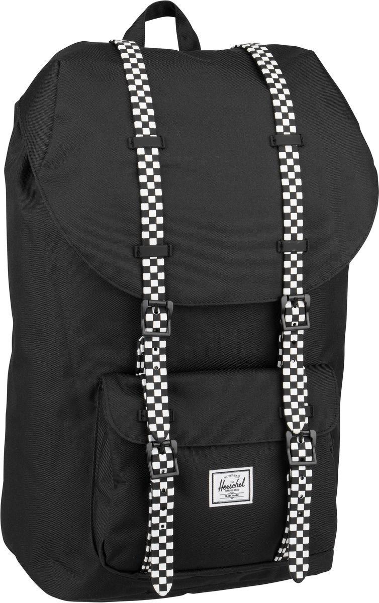 Laptoprucksack Little America Black/Checkerboard (25 Liter)
