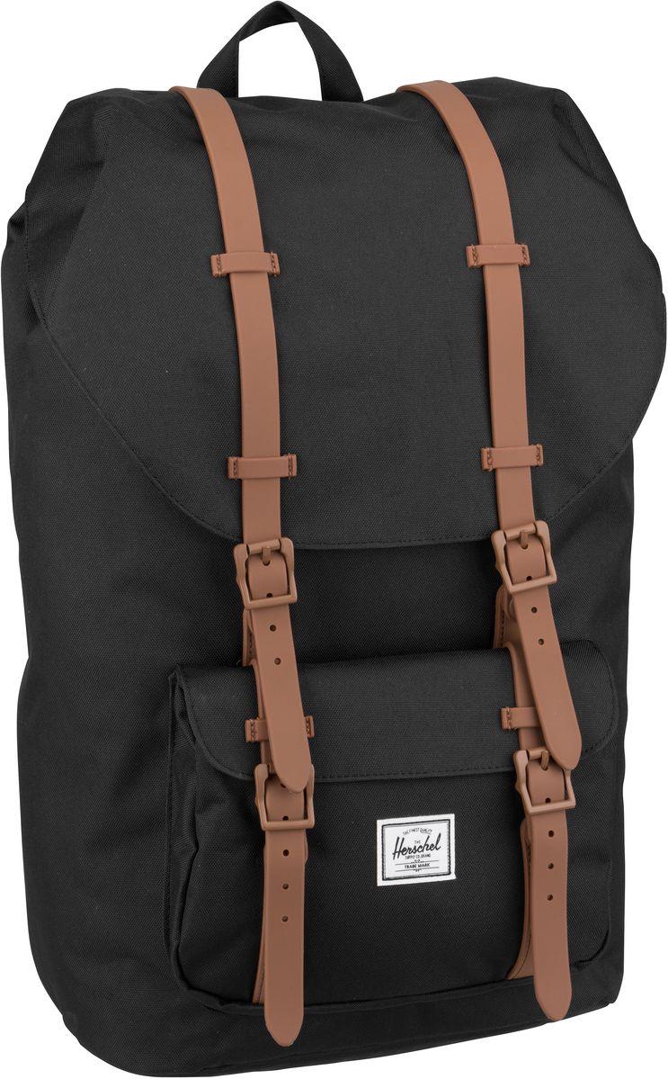 Laptoprucksack Little America Black/Saddle Brown (25 Liter)