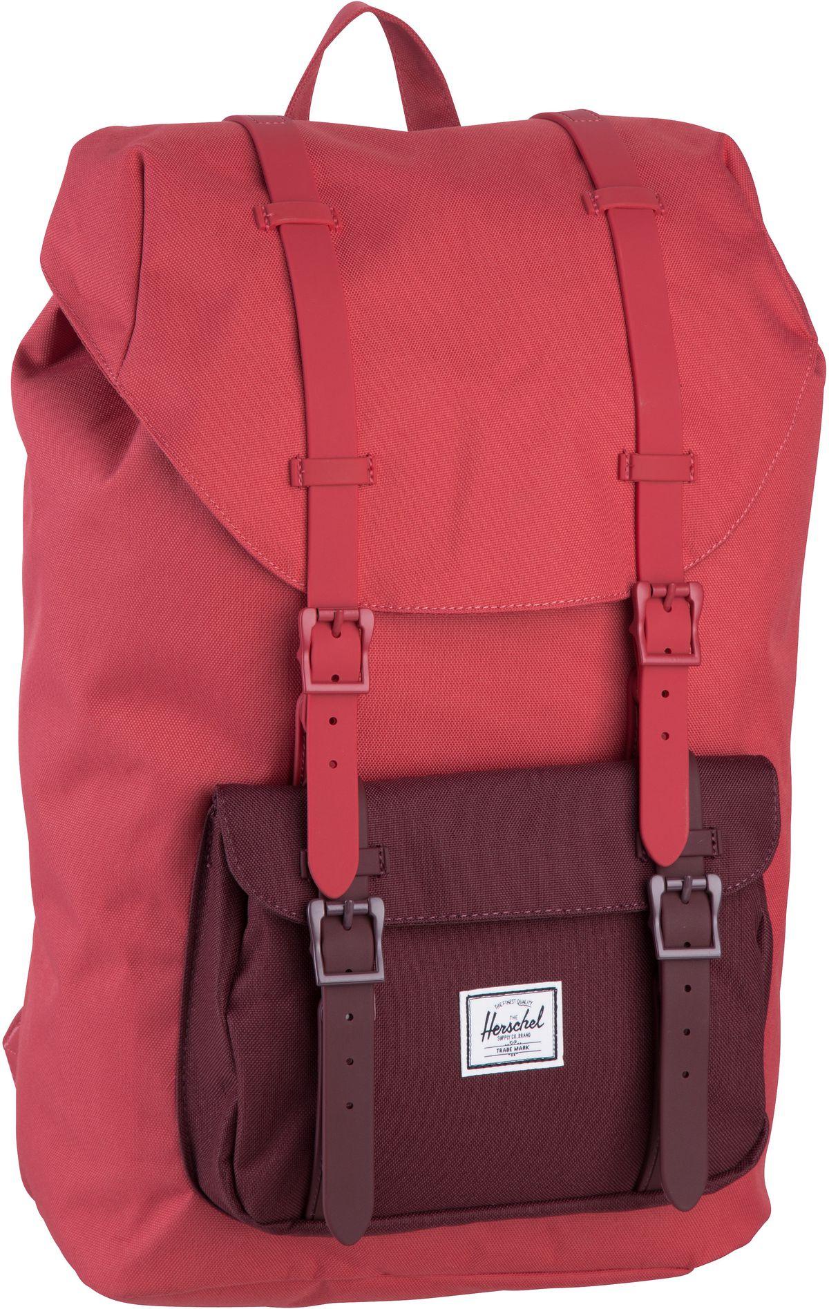 Laptoprucksack Little America Mid Volume Mineral Red/Plum (16.5 Liter)