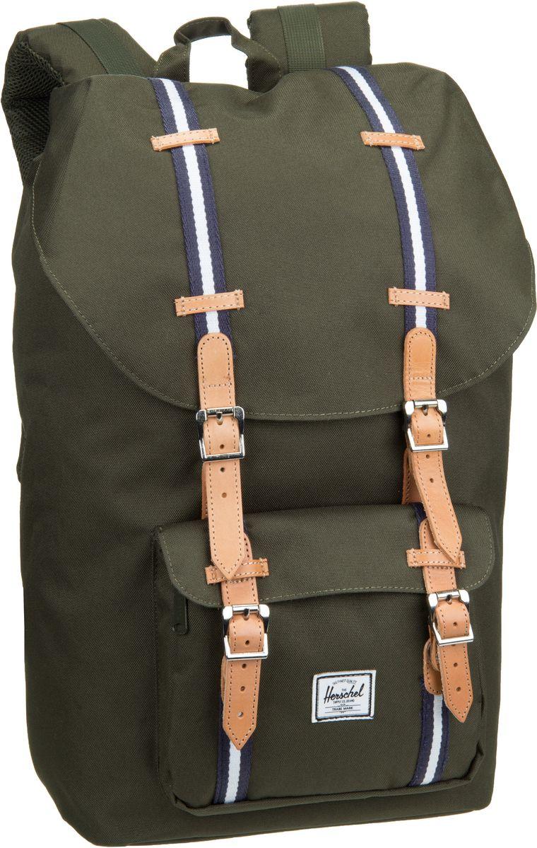 Herschel Little America Offset Forest Green - Rucksack / Daypack