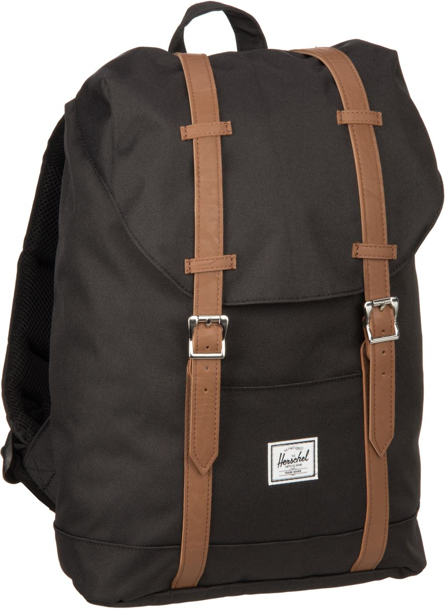 Herschel Laptoprucksack Retreat Mid-Volume Black/Tan (14 Liter)