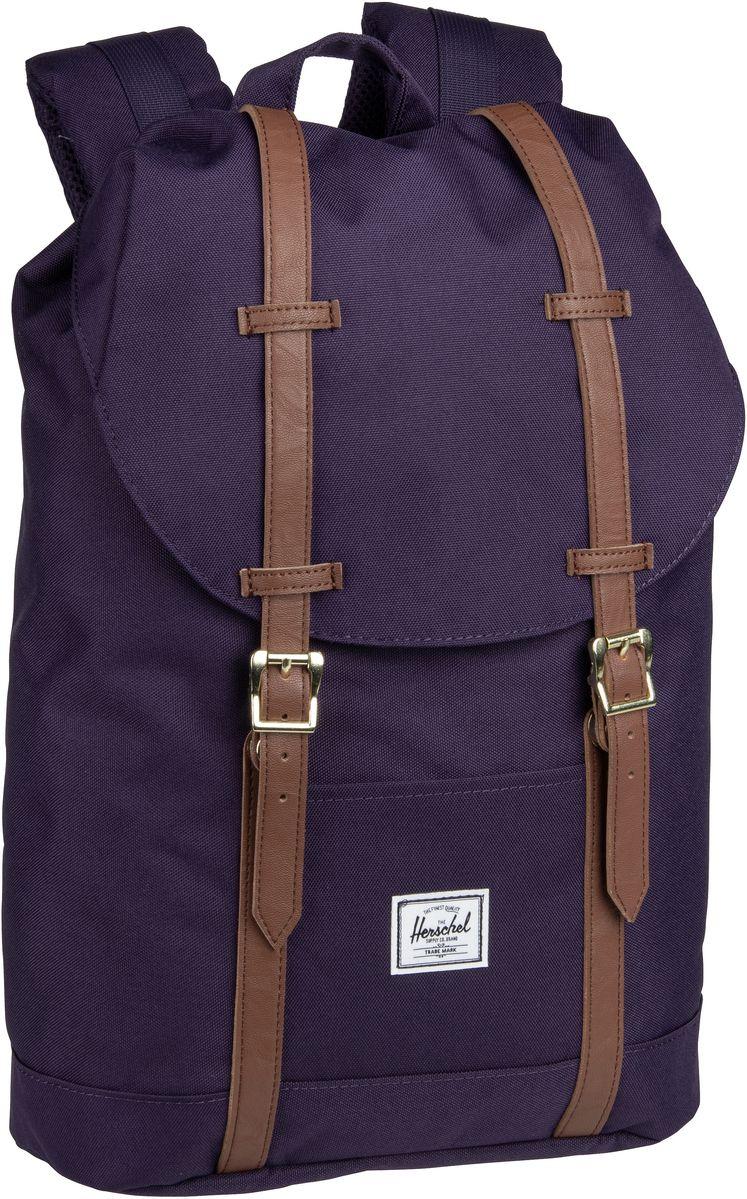 Laptoprucksack Retreat Mid-Volume Purple Velvet/Tan (14 Liter)