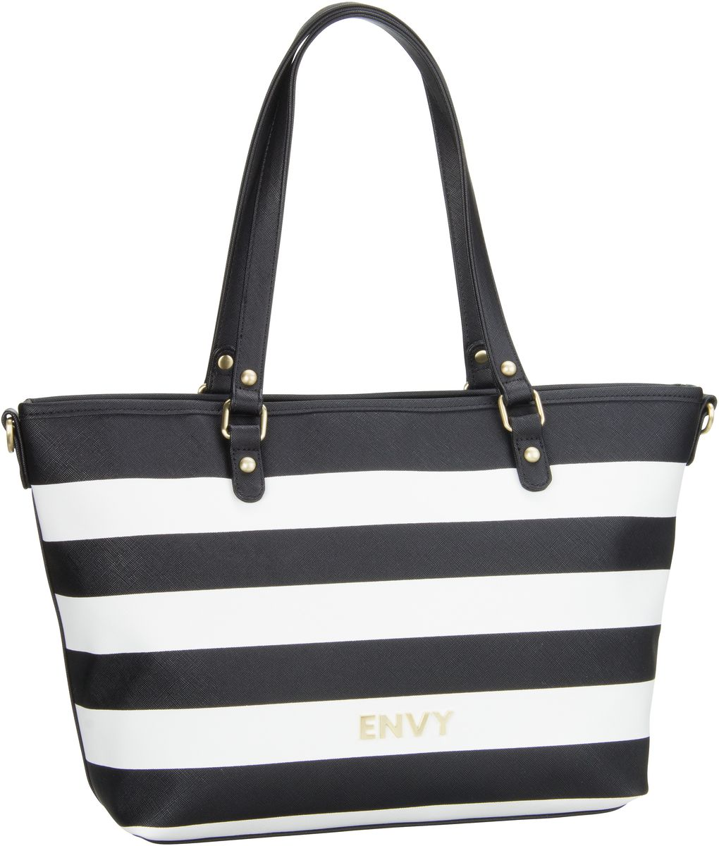 House of Envy Classy Shopper Black White - Hand...
