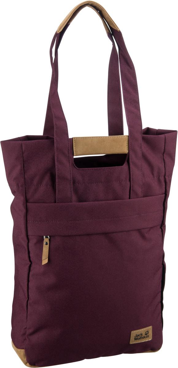 Shopper für Frauen - Jack Wolfskin Shopper Piccadilly Burgundy (15 Liter)  - Onlineshop Taschenkaufhaus