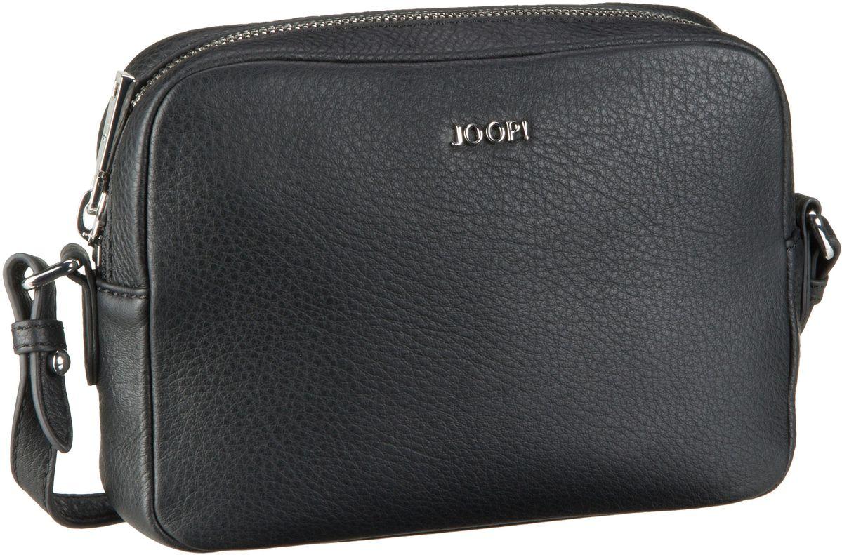 Umhängetasche Cloe Nature Grain Shoulder Bag Small Black/Silver