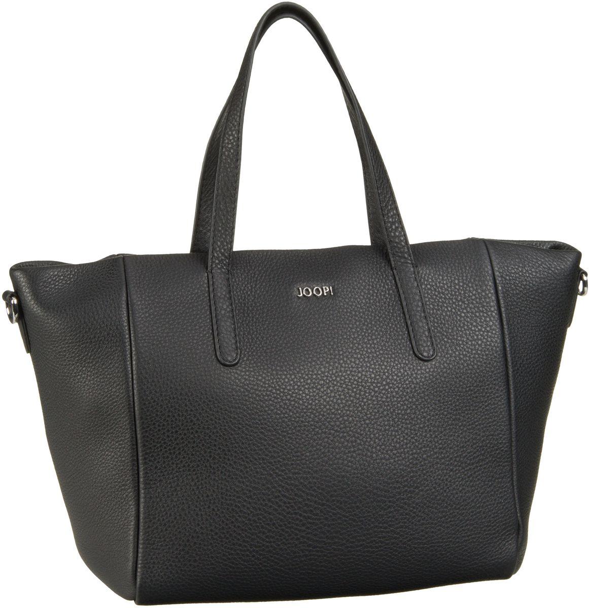 Handtaschen für Frauen - Joop Handtasche Nature Grain Helena HandBag MHZ Black Silver  - Onlineshop Taschenkaufhaus