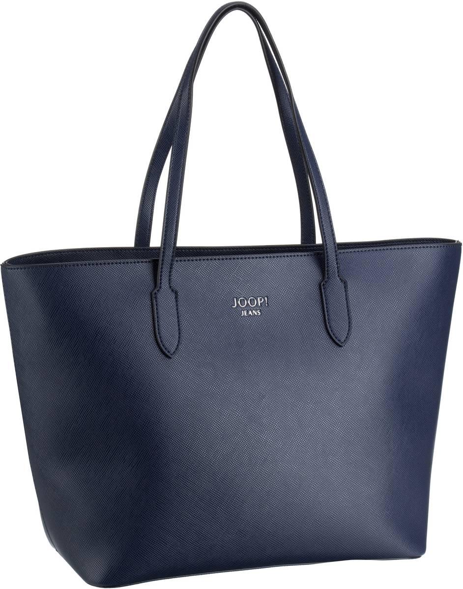 Handtaschen für Frauen - Joop Handtasche Saffiano Jeans Lara Shopper LHZ Dark Blue  - Onlineshop Taschenkaufhaus