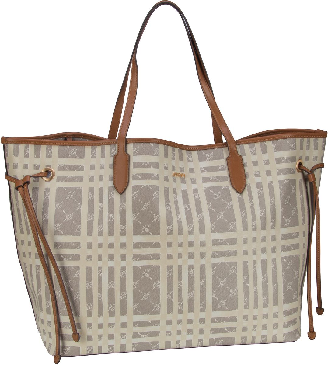 Shopper Cortina Cheque Lara Shopper XLHO Beige
