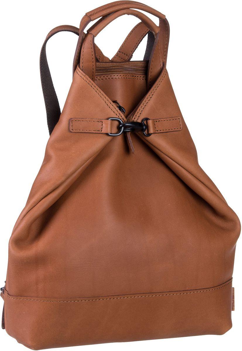 Rucksaecke für Frauen - Jost Rucksack Daypack Futura 8660 X Change 3in1 Bag XS Cognac  - Onlineshop Taschenkaufhaus