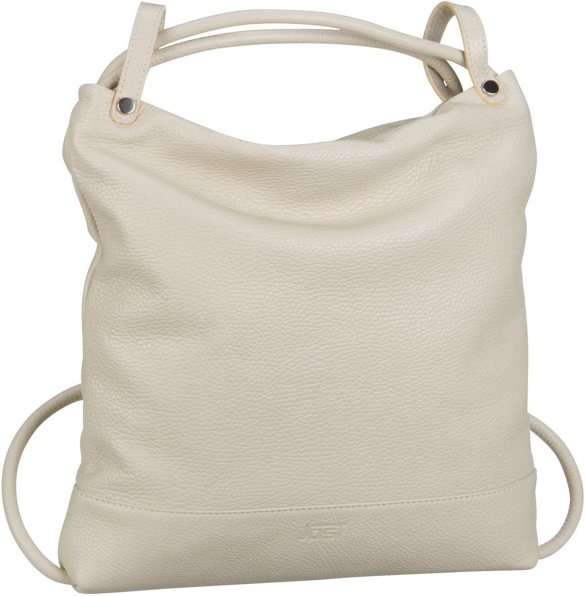 Rucksack / Daypack Vika 1831 Hobo Bag Backpack Offwhite