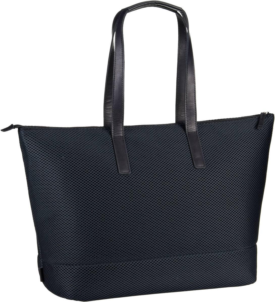 Handtasche Mesh 6183 Shopper Schwarz