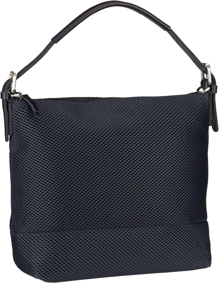 Handtasche Mesh 6182 Hobo Bag Schwarz