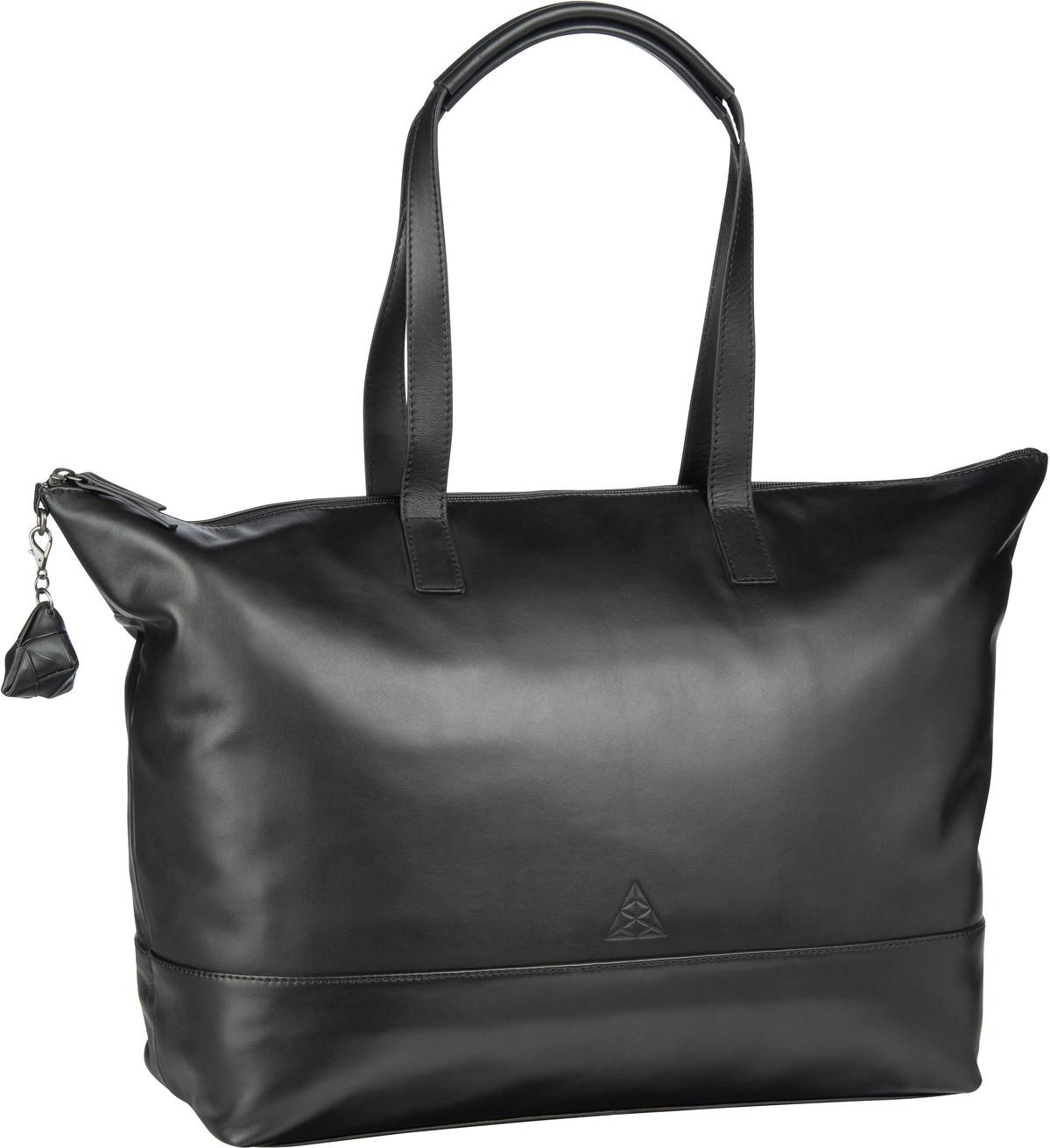 Handtasche Alice Sara Ott 6014 Shopper Schwarz