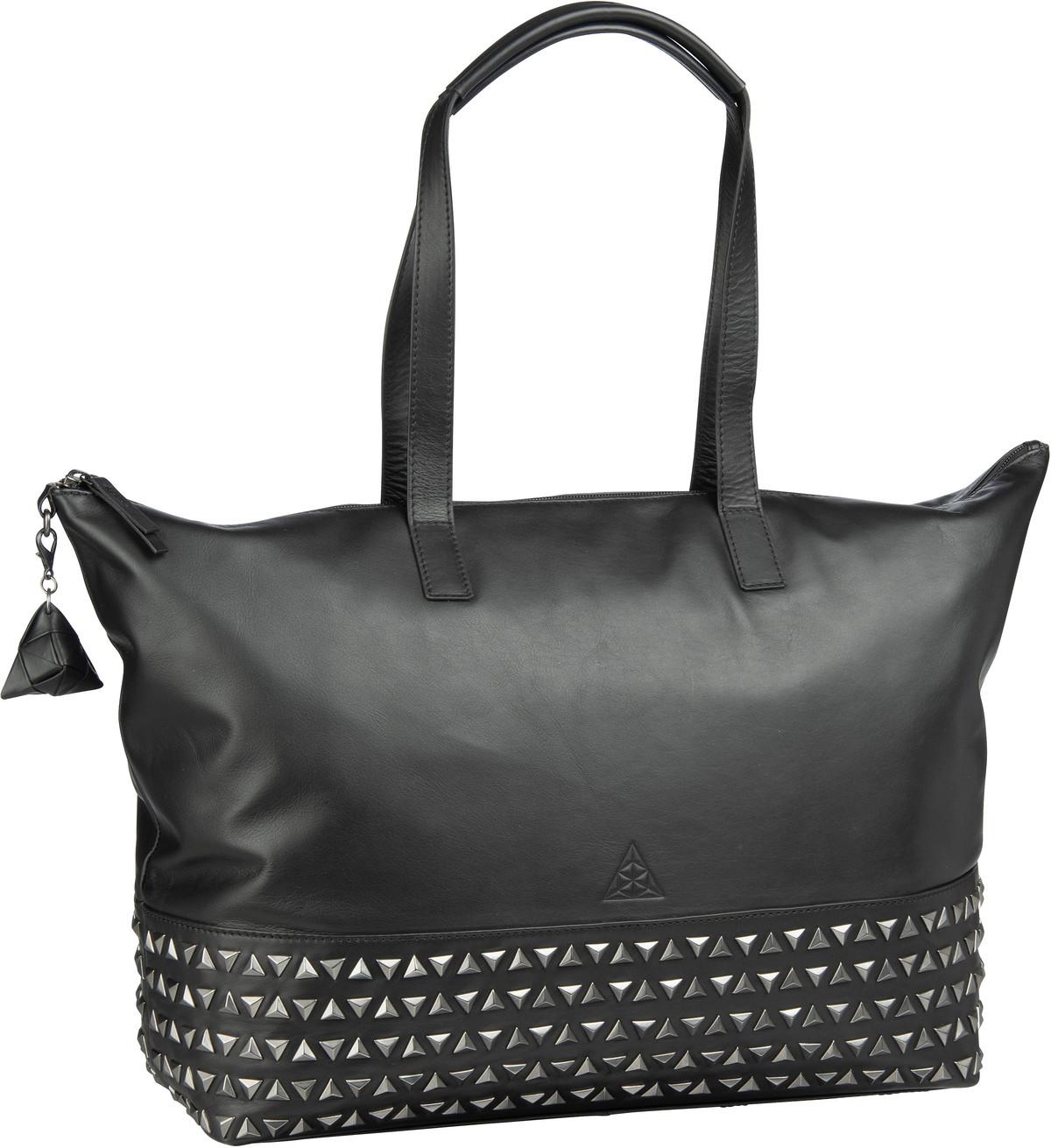 Handtasche Alice Sara Ott 6017 Shopper Schwarz