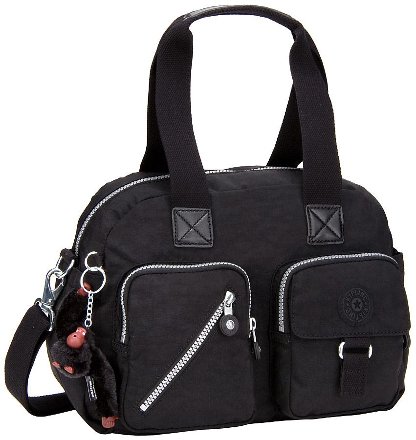 Handtaschen für Frauen - Kipling Handtasche Defea Black (11 Liter)  - Onlineshop Taschenkaufhaus