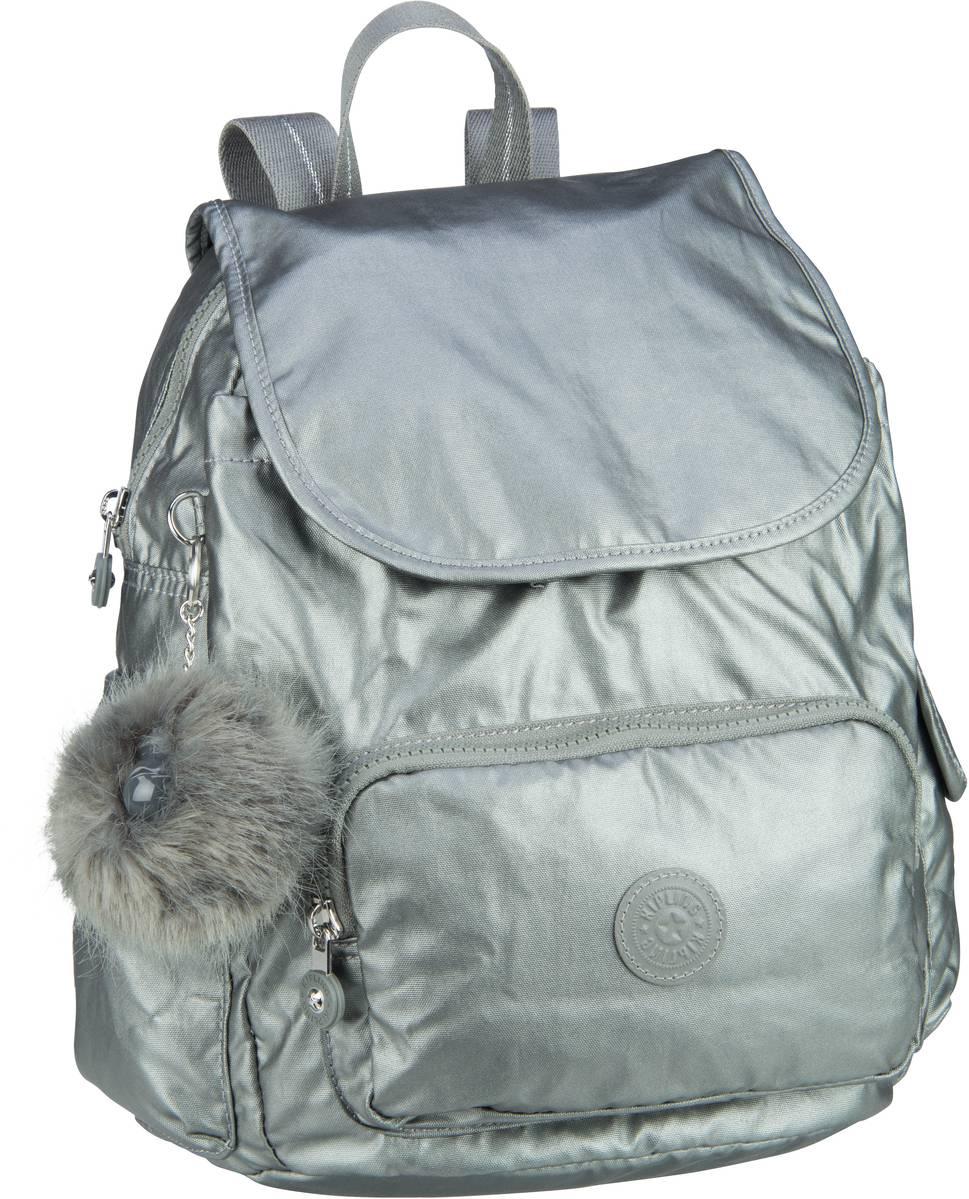 Rucksaecke für Frauen - Kipling Rucksack Daypack City Pack S Transformation Metallic Stony (13 Liter)  - Onlineshop Taschenkaufhaus