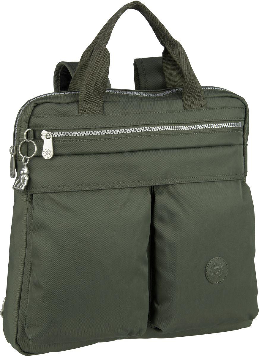 Rucksaecke für Frauen - Kipling Rucksack Daypack Komori S Transformation Rich Green (13 Liter)  - Onlineshop Taschenkaufhaus