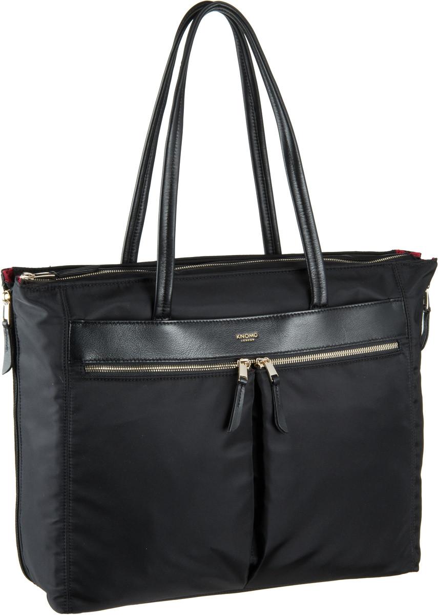 Businesstaschen für Frauen - Knomo Mayfair Grosvenor Place 15'' RFID Black Aktentasche  - Onlineshop Taschenkaufhaus