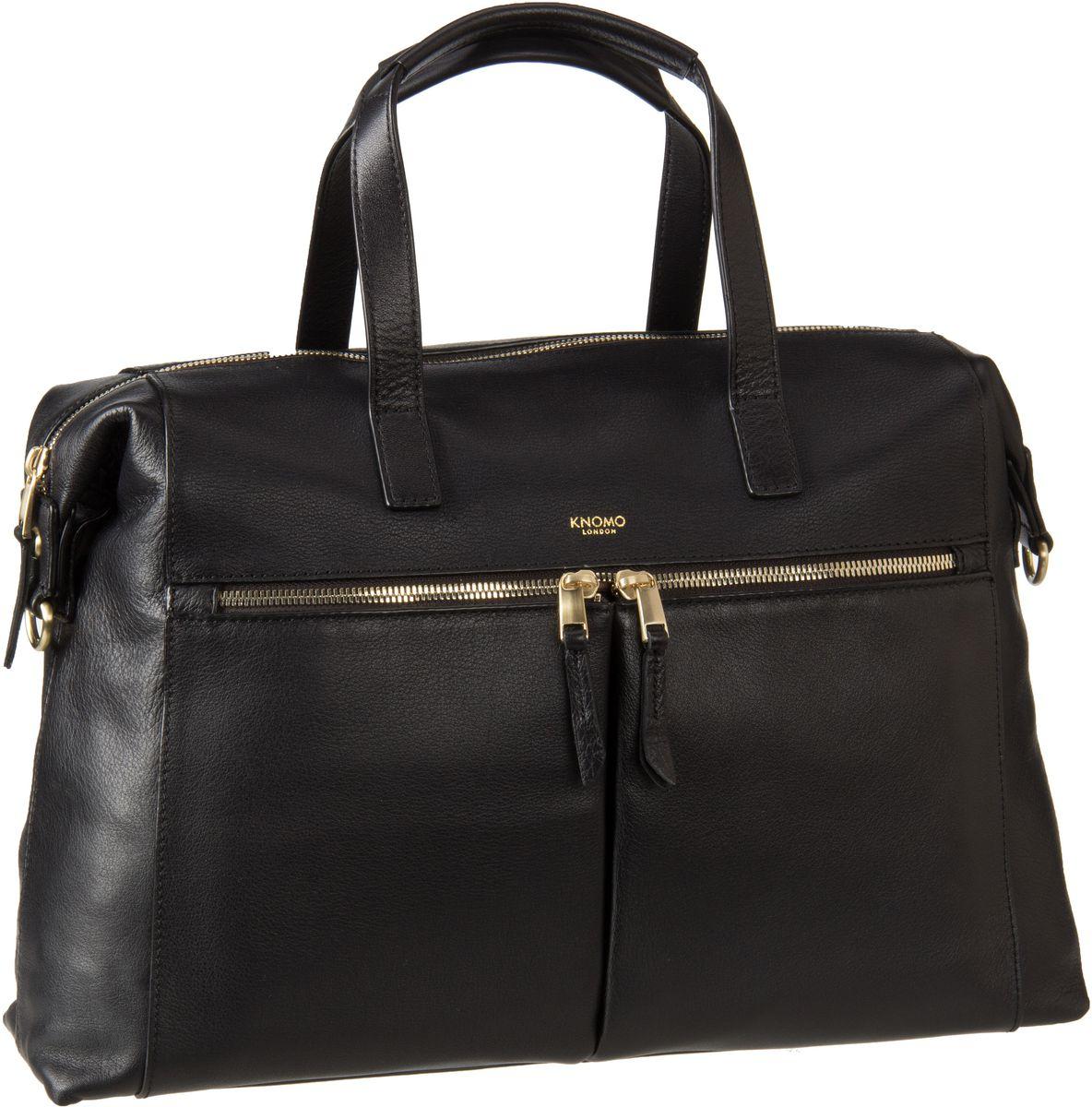 Businesstaschen für Frauen - Knomo Mayfair Luxe Audley 14'' RFID Black Aktentasche  - Onlineshop Taschenkaufhaus