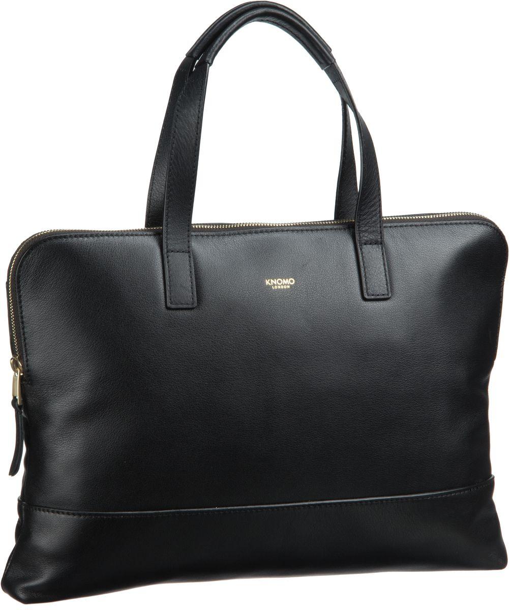Businesstaschen für Frauen - Knomo Aktenmappe Mayfair Luxe Reeves 14'' RFID Black  - Onlineshop Taschenkaufhaus