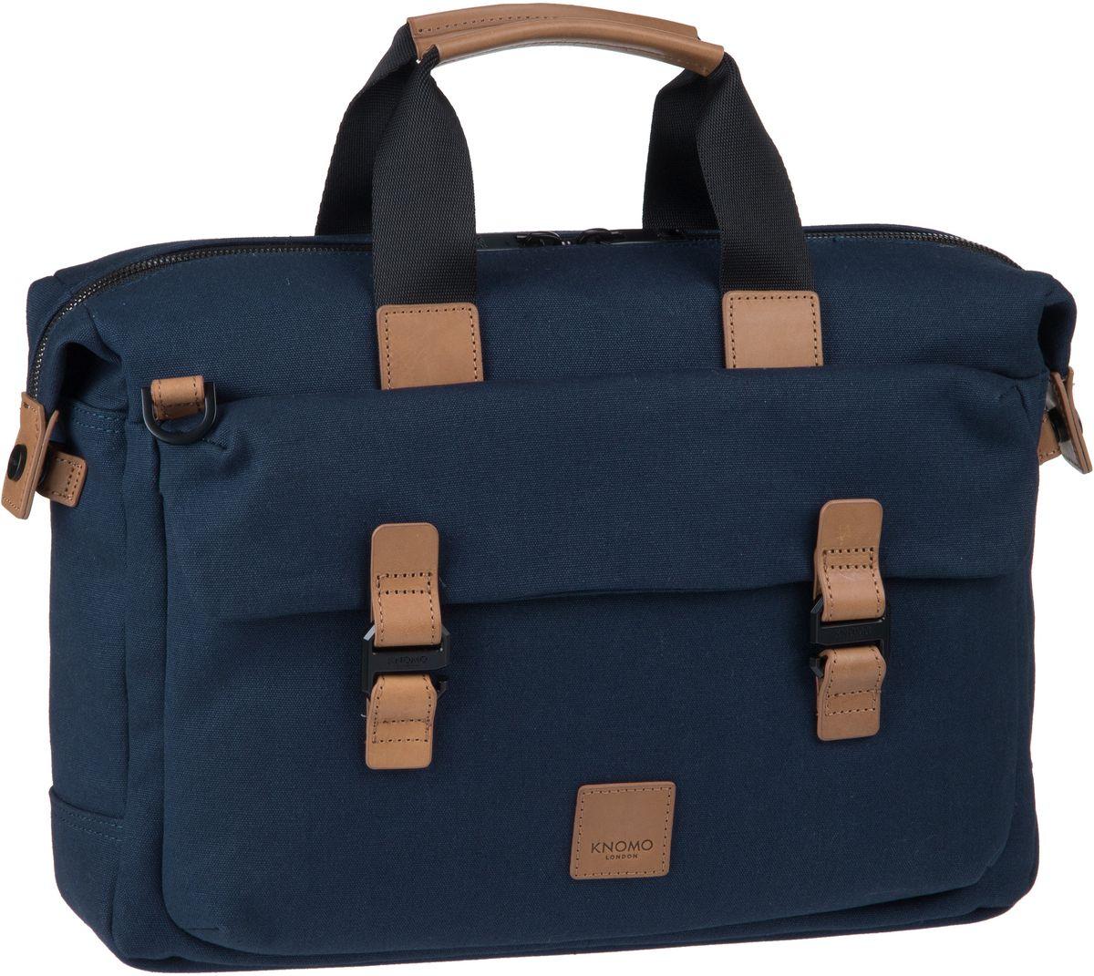 Businesstaschen für Frauen - Knomo Aktentasche Fulham Tournay 15'' Navy (9.7 Liter)  - Onlineshop Taschenkaufhaus