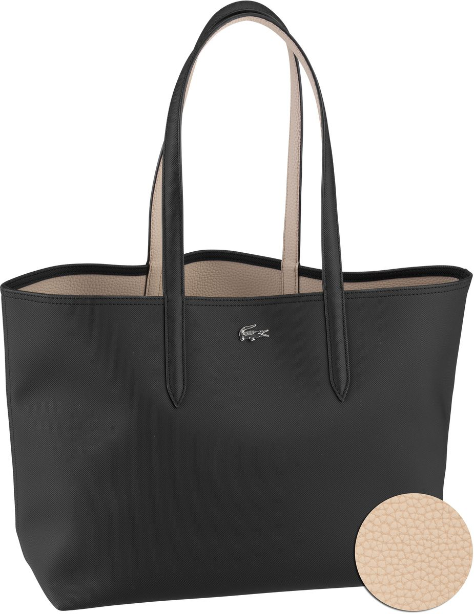 Lacoste Shopper Anna Shopping Bag 2142 Black/Warm Sand (innen: Beige)