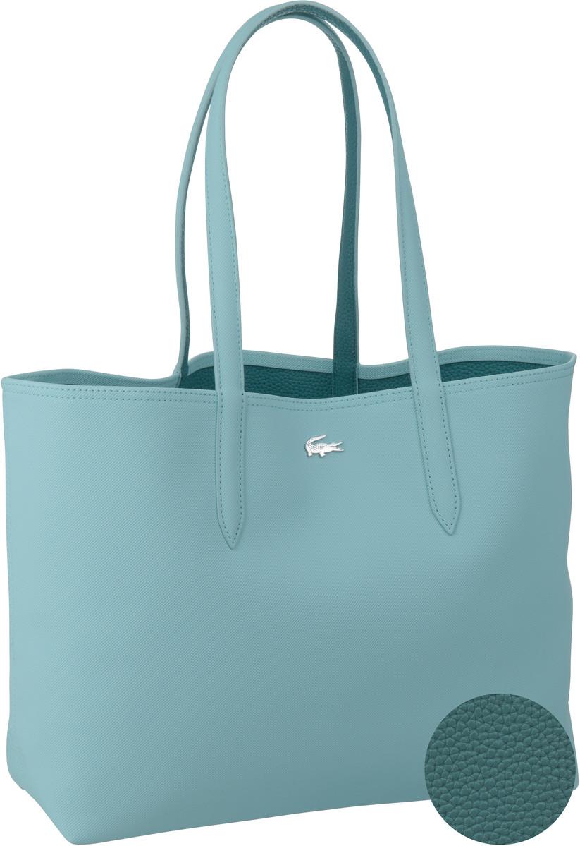 Shopper für Frauen - Lacoste Shopper Anna Shopping Bag 2142 Clearwater Brittany Blue (innen Blau)  - Onlineshop Taschenkaufhaus