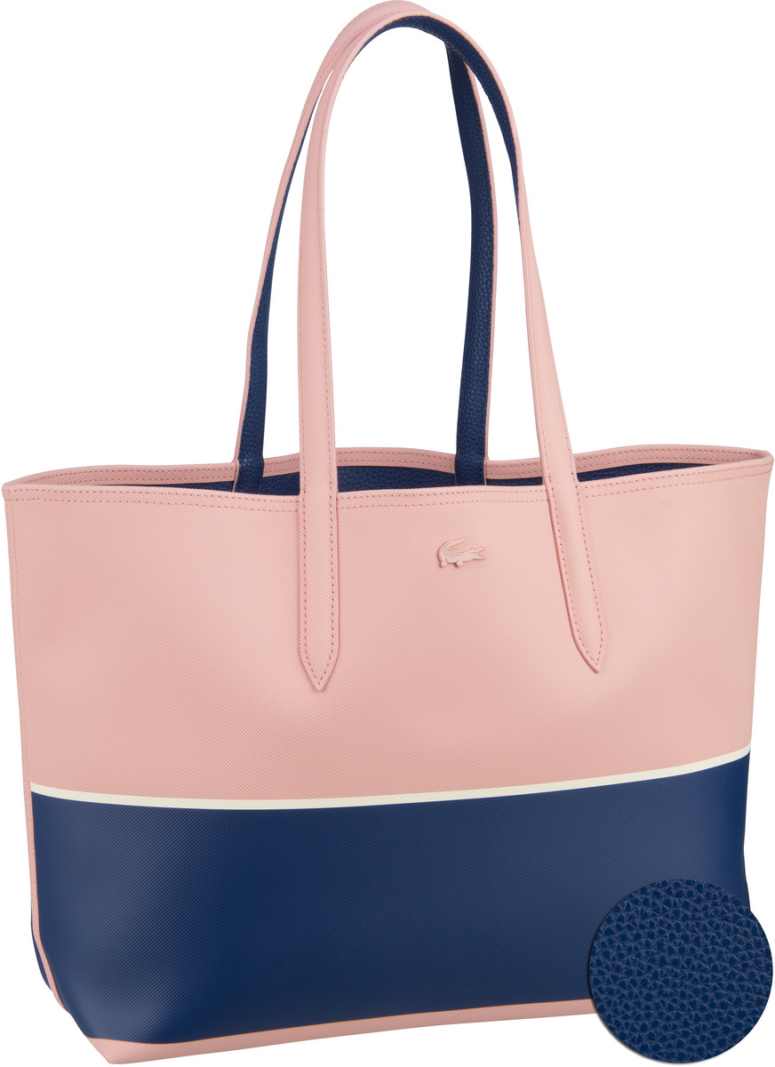 Lacoste Handtasche Shopping Bag 2793/94 Mellow Estate/Papyrus (innen: Blau)