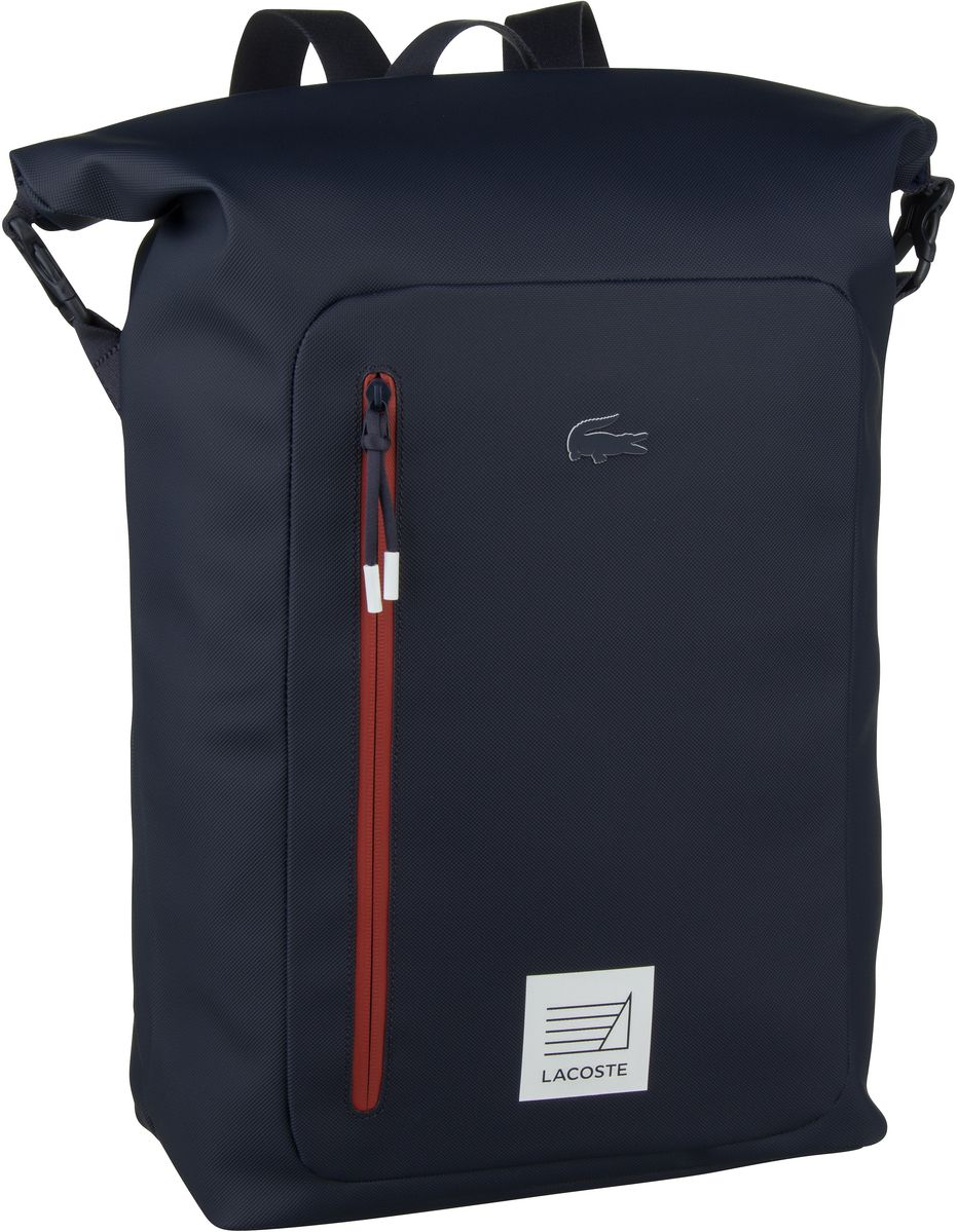 Lacoste Rucksack / Daypack Roll Backpack 2855/57 Peacoat Henna