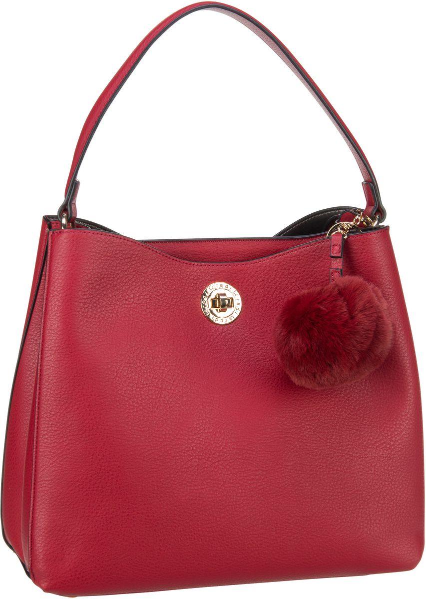 Schultertaschen für Frauen - L.Credi Schultertasche Belvedere 2263 Rot  - Onlineshop Taschenkaufhaus